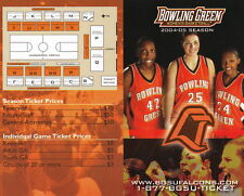 2004-05 BOWLING GREEN STATE UNIVERSITY WOMEN'S BASKETBALL SCHEDULE - UNFOLDED