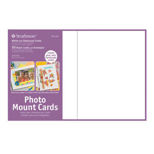 """Strathmore Photo Mount Cards 50 Pack 5x6-7/8"""" - White"""