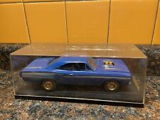 Blue 1970 Plymouth Gtx 1:25 Model Kit Adult Pro Built Display Case