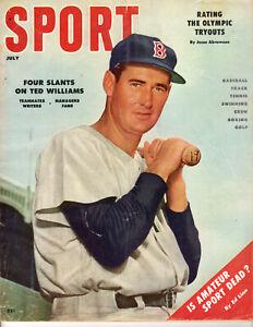 JULY 1956 SPORT MAGAZINE TED WILLIAMS BOSTON RED SOX ERNIE BANKS TED KLUZEWSKI