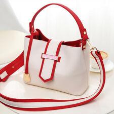 Borsa manici tracolla comoda rosso bianco grande  elegante pelle sintetica 2024