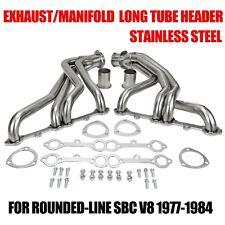 Exhaust/Manifold Stainless Steel Long Tube Header For Rounded-Line Sbc V8 77-84
