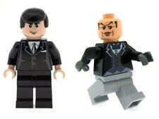 Custom Designed Minifigures - Bruce Wayne & Alfred Butler Printed on LEGO Parts