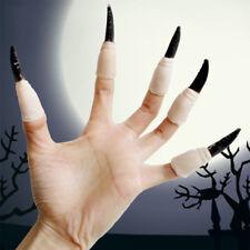 EG_ 10Pcs Halloween Prop Soft Fake Finger Nail Set Monster Vampire Cosplay Fashi