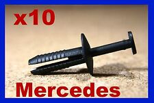 10 Mercedes Benz Rueda Arco Forro de panel de FLARE Adorno Mud Guard sujetador Remache Pin