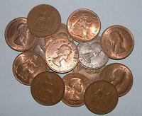 Great Britain/UK 1953 - 1967 - Elizabeth II Bronze Pennies - Select the Date