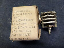 VINTAGE/ANTIQUE AIRCRAFT MALLORY ROTARY SWITCH 70-01824 NIB/NOS NEW SURPLUS