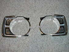 New Pair 1969 69 Dodge Dart Chrome & Black Headlight Bezels lamp bezel mopar