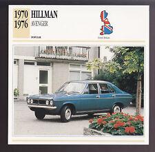 1970-1976 Hillman Avenger GLS Car Photo Spec Sheet CARD 1971 1972 1973 1974 1975