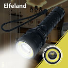 10000LM T6+COB LED Flashlight Zoomable 4 mode 18650 Charger USB Torch Lamp Light