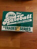 1987 Topps Baseball Traded Series