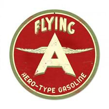 Flying A Aero Type Gasoline Metal Sign ManCave Garage Body Shop Barn Shed Pts203