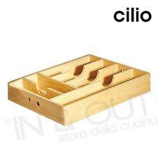 Portaposate cassetto Contenitore da Porta posate per Utensili in legno Cilio