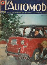 L'AUTOMOBILE 165 1960 MOTEUR ROTATIF WANKEL ESSAI AC ACE BRISTOL PANHARD PL17