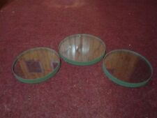 Set of spare glasses for Russian diving helmet 3 bolt. Front and side.