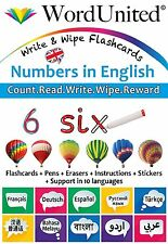 Early Years (EYFS) / Primary (KS1) Numbers in English - Write & Wipe Flashcards