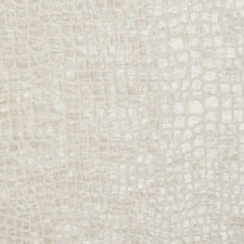 A0151E Off White Textured Alligator Woven Velvet Upholstery Fabric By The Yard