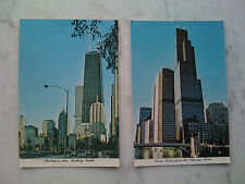 2 Ansichtskarten Chicago,1.Michigan Ave. in south 2.Sears Tower from the River