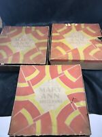 "Lot of 3 x 4 Vintage MARY ANN SHELL PANS 3-1/2"" No 4 with Box 12 pc Total"