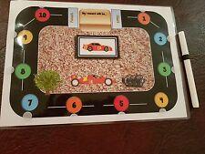 Racetrack + car themed reward chart - Universal- with pen