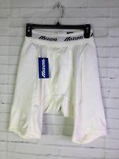 Mizuno Mens Size L White Boxer Briefs Underwear Longline Compression Sport NEW