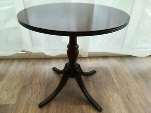 Round Pedestal Wine Table Side End Occasional Table H51cm Dia 50cm Antique Style