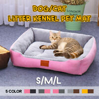 Pet Dog Cat Bed Puppy Cushion House Soft Warm Kennel Mat Blanket Washable Comfy