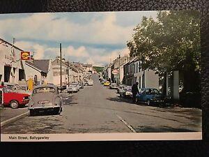 Ballygawley Main Street Vintage Postcard,Northern Irish Co Tyrone Landscape Cars