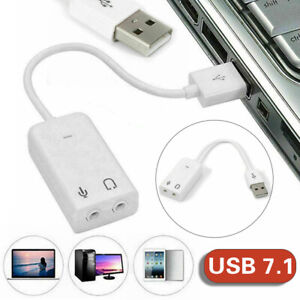 USB 2.0 To 3.5mm Headphone Jack External 7.1 Channel Audio Sound Card Adapter si
