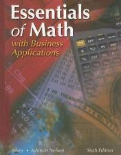 Essentials of Math : With Business Applications by Marceda Johnson Nelson and...