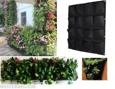 16 Pocket Indoor Outdoor Wall Balcony Herbs Vertical Garden Hanging Planter Bag