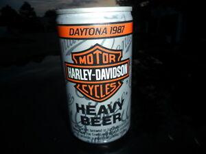 HARLEY-DAVIDSON   BEER CAN 1987  DAYTONA BIKE WEEK RARE drained