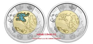 Canada 2021 $2 Dollars Discovery of Insulin Colored & Non-colour Toonie Coin BU