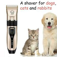 Pet Dog Electric Shave Clipper Hair Low Noise Cordless Cat Grooming Trimmer Kits