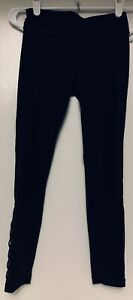 Black Athleta Girl M 8-10 Medium Girls Criss Cross Mesh Capri Pants Leggings
