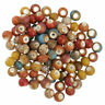 100PC 6mm Beads Ceramic Porcelain For DIY Jewelry Making Colorful Vintage Charms
