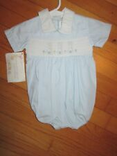 NWT House of Hatten Smocked Bunny Rabbit Bubble/Shortall/Romper Size 3 Months