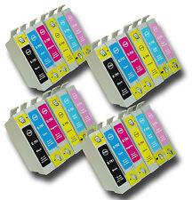 """24 T0791-T0796 """"Hibou"""" non-OEM Cartouches d'encre compatibles avec Epson Stylus PX730WD"""