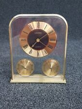 Vintage Linden Desk Clock - with Thermometer & Hygrometer(humidity)