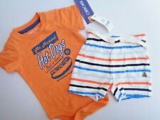 New Lot 2 Baby Gap Shorts Hot Dogs Romper Bodysuit Boys Clothes Newborn Nb 0-3M