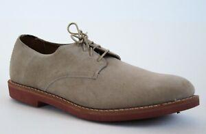 EXCELLENT Allen Edmonds Boone Beige Suede 3106 Oxford Leather Dress Shoes 10D 10