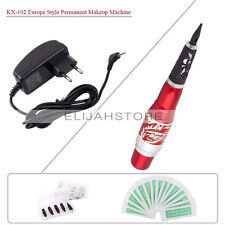 New Pro Permanent Makeup Red Dragon Rotary Machine Pen Needles Tips Power Supply