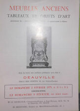 1975 Catalogue vendite Illustrato Versailles MOBILI ANTICHI OPERE OGGETTI ARTE