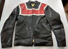 Vintage Bates Leather Motorcycle Jacket | Custom Tailored Red White and Black