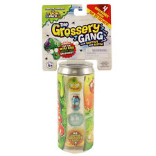 The Grossery Gang Series 1 - STICKY SODA PACK (4 Grosseries & 1 Storage Can)