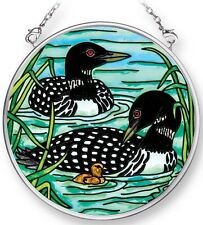 Amia WADING LOONS Painted Glass Small Circle Shaped Suncatcher