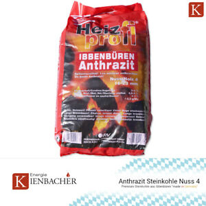 Anthrazit Nuss 4 Premium Steinkohle 25kg Sack Heizprofi Ibbenbüren Kohle 16-23mm