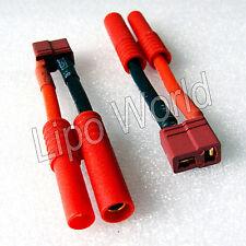 4mm HXT Stecker auf  Deans T Buchse 12AWG !!! Adapter Lade Kabel LiPo Akku