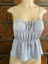 Victoria's Secret XS Gray Cami Tank Top Scoop Neck Drawstring NWT