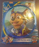 "Chase Paw Patrol Frisbee Fun & Fit Flying Disk 9 1/4"" Nick JR"